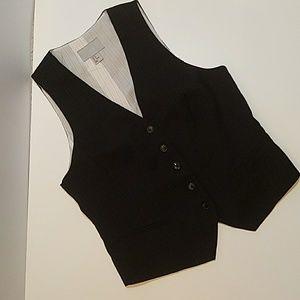 H&M pinstripe Vest sz 12